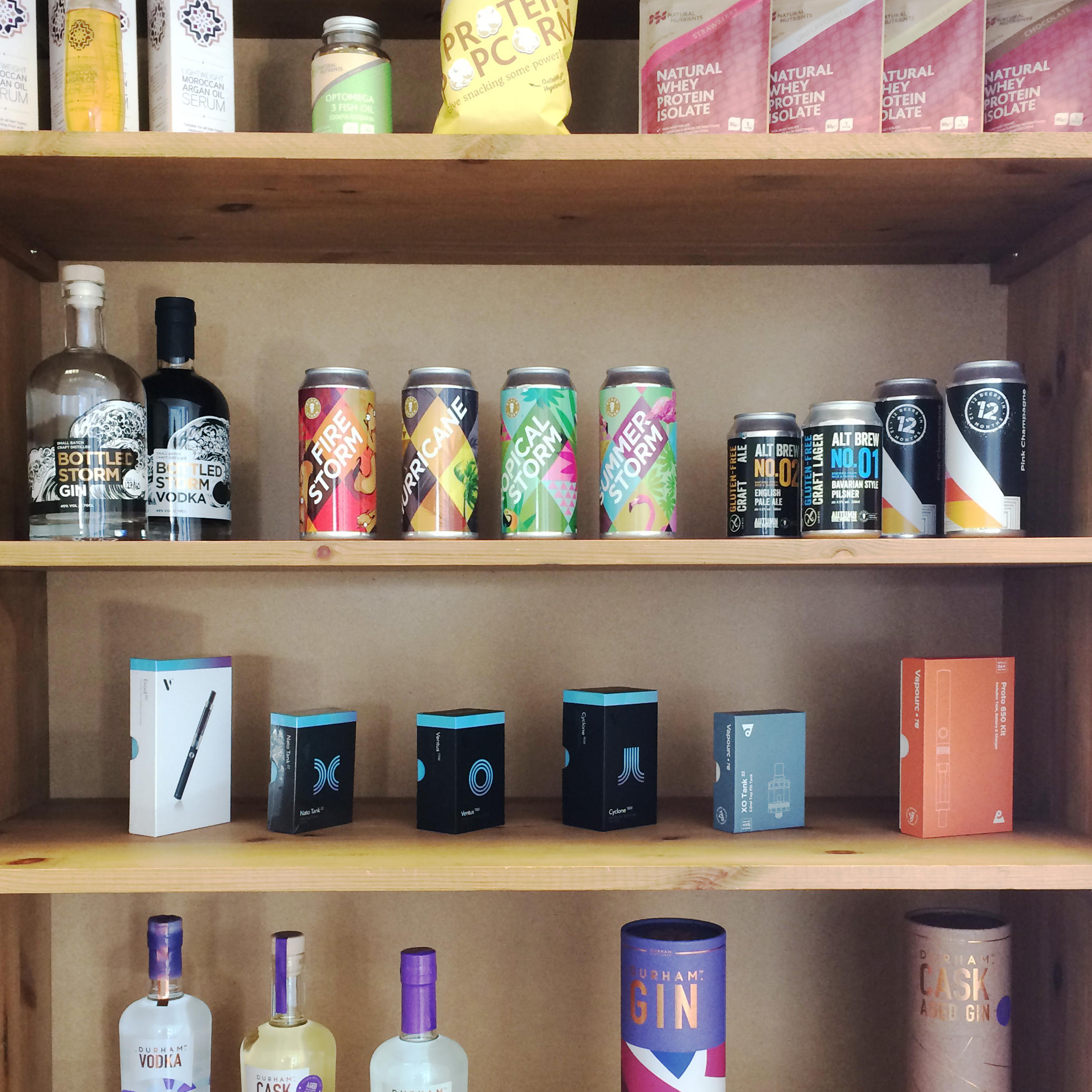 Shelf of Packaging designs created by Wonderstuff