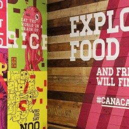 Canaca interior poster and graphics