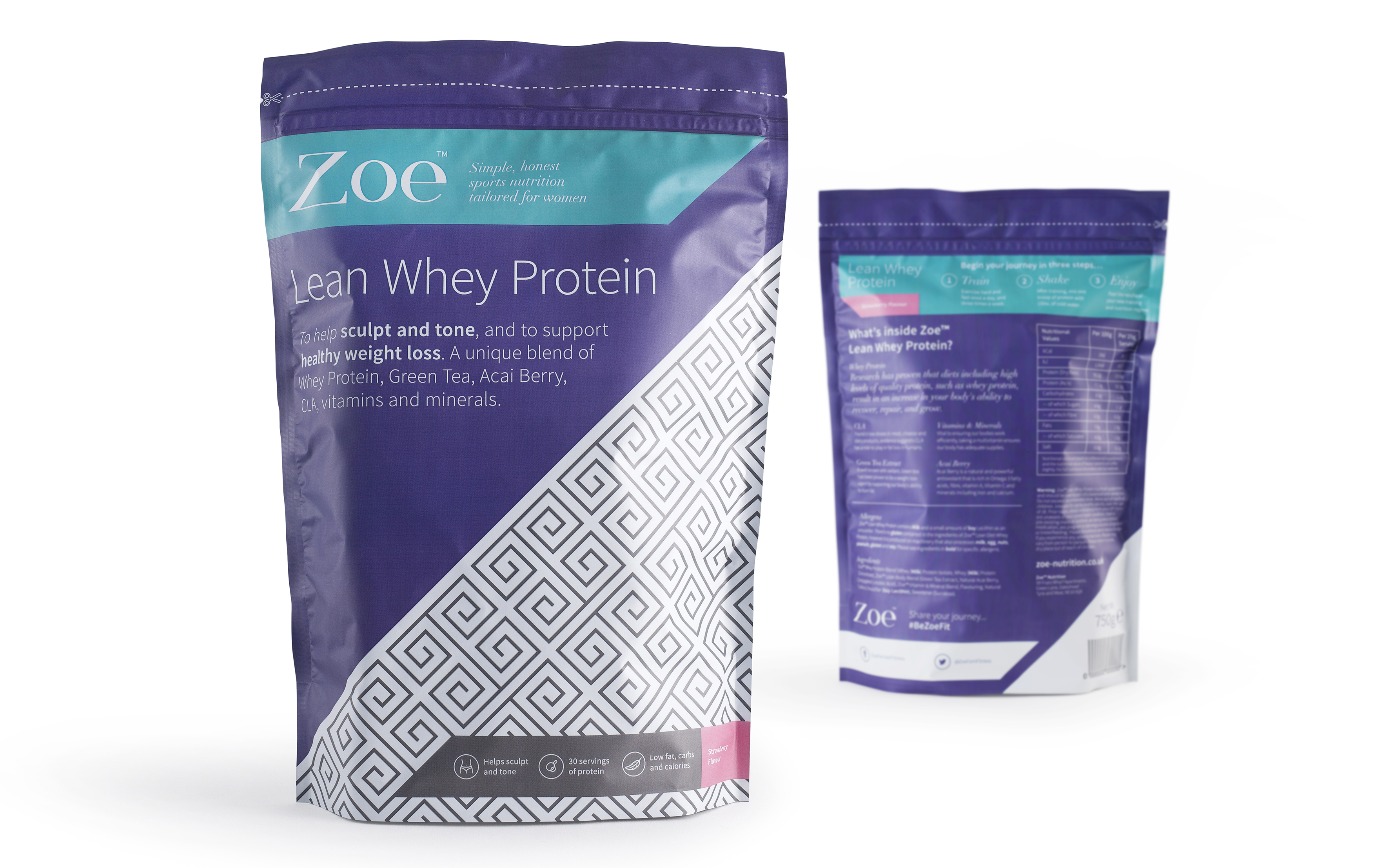 Zoe Protein Packaging Design