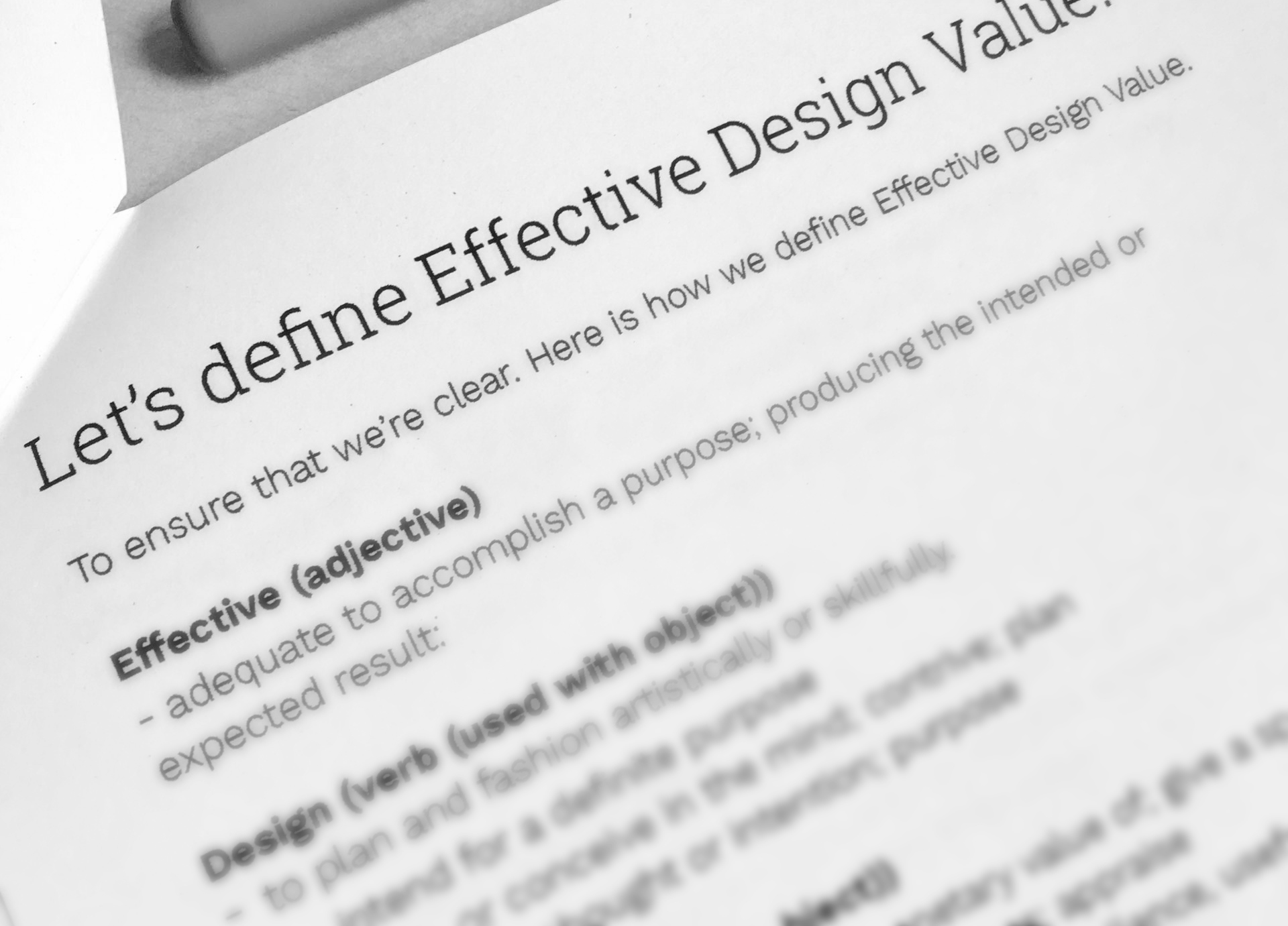 Effective Design Value